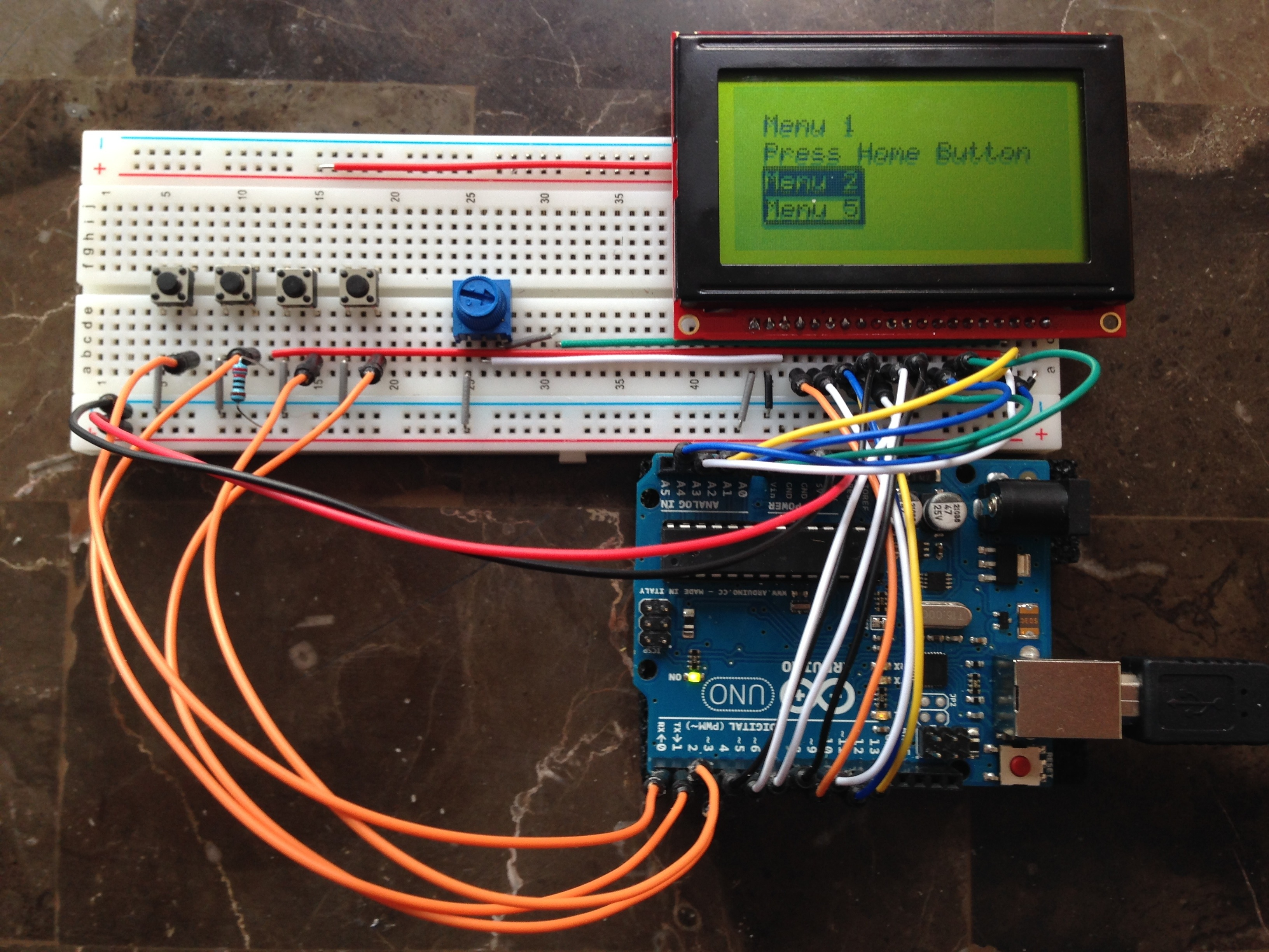 Graphic LCD 128×64 STN LED using GLCD v3 (and buttons!) | OhmyFarads