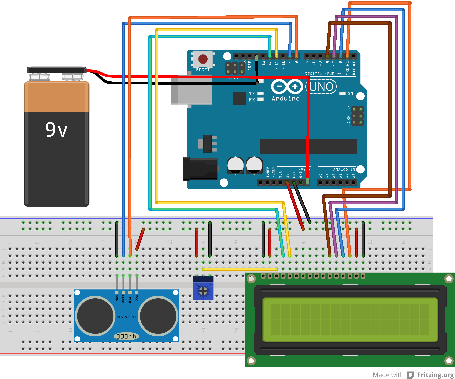Ultrasonic Range Detector Using Arduino and the SR04